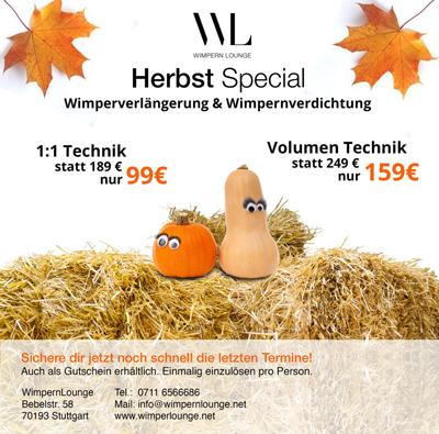 Wimpernverlängerung Stuttgart - Herbst Aktion 2016