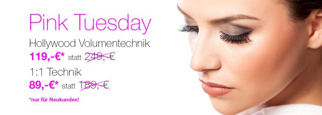 Pink Tuesday Wimpernverlaengerung Angebot Neukunden